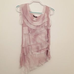 Simply Natural Sleeveless Ruffle Blouse NWT